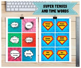 Karty gramatyczne Super Tenses and time words