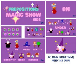 Prepositions Magic Show KIDS - prezentacja interaktywna do lekcji online