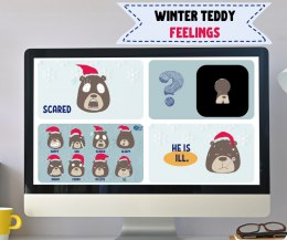 WINTER TEDDY feelings - interaktywna prezentacja do lekcji online
