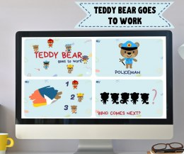 TEDDY BEAR GOES TO WORK - prezentacja do lekcji online